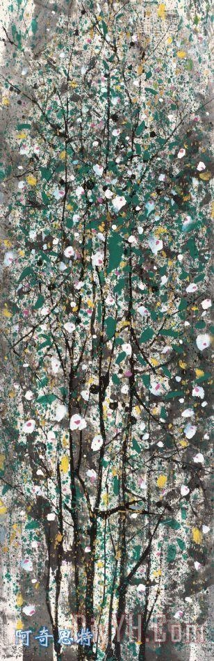木槿 - 吴冠中木槿装饰画