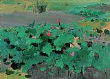 红莲装饰画