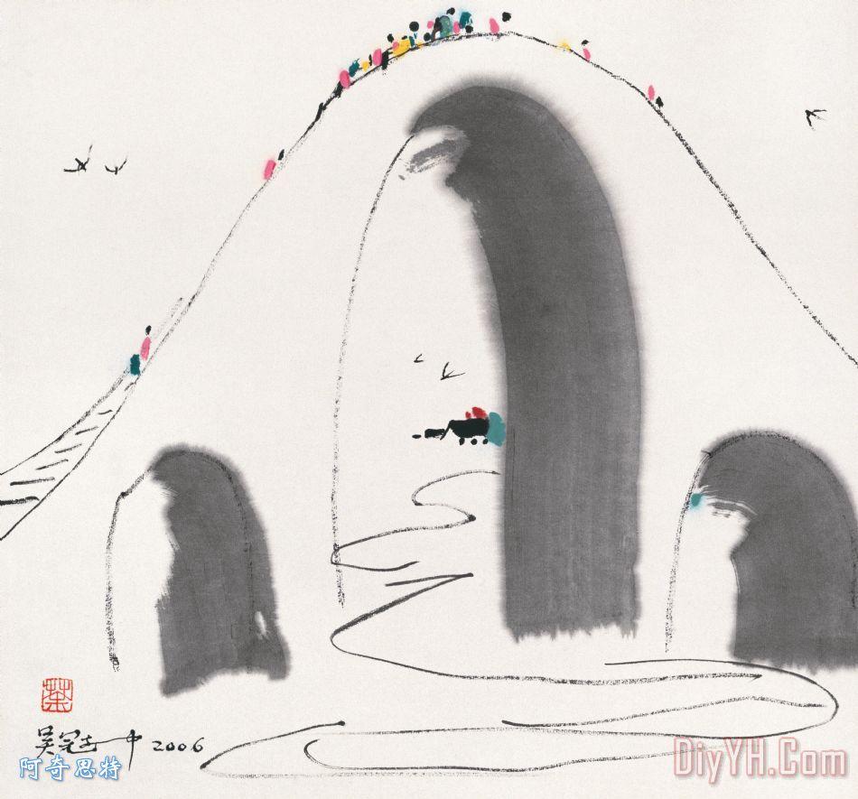 高桥 - 吴冠中高桥装饰画